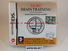 MORE BRAIN TRAINING NINTENDO DS DSi 2DS 3DS NDS PAL ITA ITALIANO NUOVO SIGILLATO