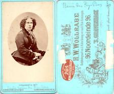 Wollrabe, S.Gravenhage, Sophie, reine des Pays-Bas Vintage CDV albumen carte de