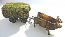 Vintage Miniature Cattle & Haywagon Xlt Cond