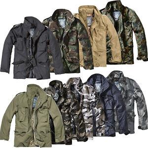 Brandit M65 Feldjacke Standard S-7XL Winterjacke US Parka 2in1 Jacke mit Futter