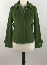 Tulle Green Peacoat Jacket Size Small Removable Hood Lined