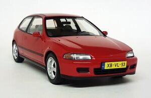 Triple9 1/18 Scale Resin Model Car - Honda Civic VTi Hatchback 1993 Red EG6