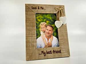 My Daddy And Me   Nan Grandad   Personalised Photo Frame Driftwood Father's Day