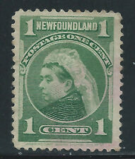 Newfoundland #80(14) 1898 1 cent yellow green QUEEN VICTORIA Light Cancel