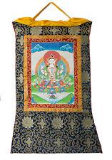 Thangka tibetaine Chenrezig-Tchenrezi -Tangka Tenture Bouddhiste-82x 56cm- 2612