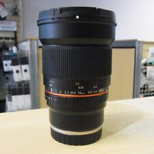 Used Samyang 16mm F2.0 ED AS UMC CS Lens in Sony E fit - 1 YEAR GTEE