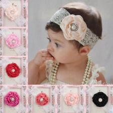 Baby Kids Girls Newborn Lace Infant Headband Flower Hairband One Piece New