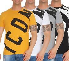 Men's Print Sporty Black White Grey Orange, Sizes S M L XL 2XL