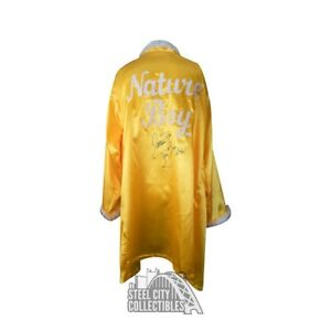 Ric Flair Autographed w/ Inscription Yellow Feather Nature Boy Robe - JSA COA