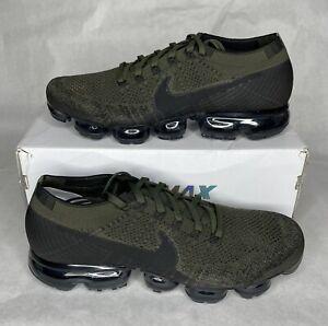 Rare Nike Vapormax Flyknit - Men's Size 12 Cargo Khaki Green Black - 849558-300