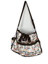 Le Sportsac Weekender Duffle Bag Heart Squiggle Print Adjustable Strap