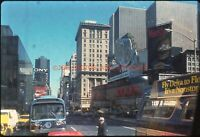 1970S NEW YORK CITY TIMES SQUARE TAKEN FROM BUS ORIG AMATEUR 35MM PHOTO SLIDE