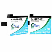 2x Pack - GoPro Hero4 Silver Battery Replacement