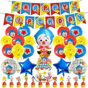 43 Pcs Plim Plim Party Decorations Set Cartoon Theme Birthday Supplies Carnival