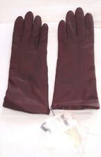 Vintage New FOWNES Ladies Leather Cashmere Gloves Chestnut Sz 7 Lord & Taylor