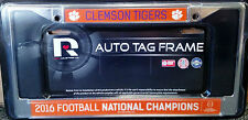 Clemson Tigers 2016 Champions Metal Chrome Frame License Plate Cover University