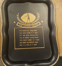 1962 JIM THORPE TROPHY METAL TIP TRAY ~ FROM 1955-1961 Unitas, Brown, Gifford