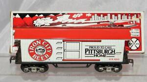 Marx Trains 7334 Iron City Beer Reefer tinplate Refrigerator car boxed 3/16 1993