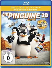 DIE PINGUINE AUS MADAGASCAR (Blu-ray 3D + Blu-ray Disc) NEU+OVP