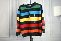 New The Children's Place Sweater Pullover Crew Rainbow Stripes Sz 4T