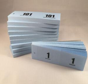 Doppelnummern/Doppelmarken fortlaufend 1-1000 je 10 x 100 Marken im Block, Blau