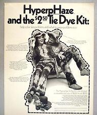 HyperpHaze Acne Medication PRINT AD - 1970 ~~ Tie Die Kit, psychedelic