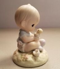 PRECIOUS MOMENTS - I BELIEVE IN MIRACLES (BABY BOY WITH CHICK)