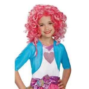 Pinkie Pie Equestria Wig My Little Pony Pink Halloween Child Costume Accessory