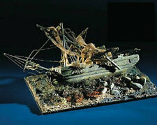"""Intricate, Unique Wooden Model Ship Kit by Mamoli: the """"Il Relitto"""""""