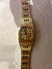 LADIES ROTARY BRACELET WATCH - GOLD PLATED - MANUAL WIND - WORKING ORDER - BOXED