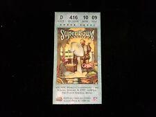 January 31, 1999 Super Bowl XXXIII Ticket Stub - Broncos vs. Falcons