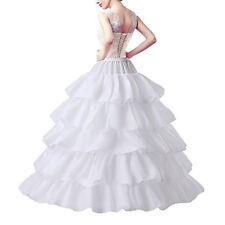 Fashion 4 Hoops 5 Layer Wedding Petticoat White Underwear A Line Underskirt