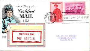 1955 Certified Mail FDC / Flugel Cachet / Typed - N666
