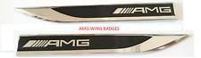 MERCEDES AMG Emblem Badge Sticker Wing Fender Metal BLACK C63 SLK