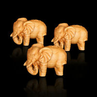 Hand Carved Lucky Thuja Elephant Statue Stone Animal Office Home Decor Crafts