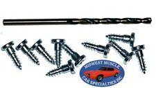 GM Chevy Window Trim Clip Molding Pin Stud Screw In Stud Studs & Drill Bit 10pcs