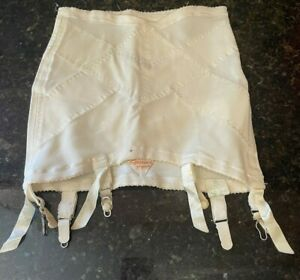Vint Gossard's Answerette Firm Control Open Bottom Girdle with 6 garters Wh Sm