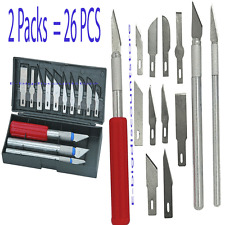 26pc Hobby Razor Blade with Case Exacto Blades Craft knife Stencil for multi use