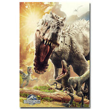 Jurassic World Dinosaur Monster Movie Art Silk Poster 13x20 inches 009