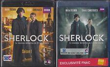 Blue-ray SHERLOCK Cumberbatch Freeman Saison 1 et 2 INTEGRALE sous BLISTER série