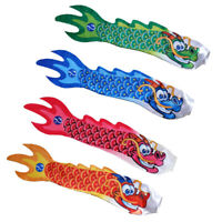 4pcs 70cm Dragon Carp Wind Sock Koinobori Fish Kite Flag Hanging Wall Decor