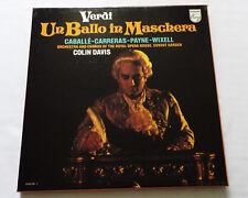 Colin DAVIS-CABALLE/VERDI Un ballo in Maschera 3LP Box PHILIPS 6769 020 (1979)