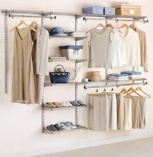 Rubbermaid Custom Closet Kit Adjustable Shelves Clothes Storage Organizer Home