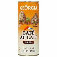 Coca Cola Japan, Georgia Cafe Au Lait, 250ml in a Can, Japanese Coffee