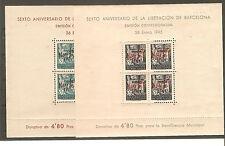 1945. RARAS  HOJITAS AYUNTAMIENTO DE BARCELONA NE 29/30- NUEVAS**