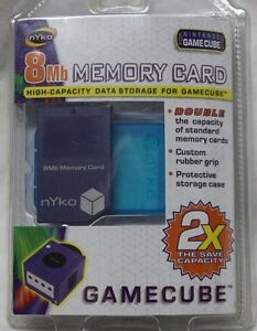 Sealed in Package Nintendo Nyko GameCube 8MB High Capacity Storage Memory Card
