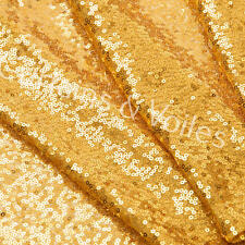 Sequin Sparkle fabric 125cm wide, GOLD wedding, backdrop, craft  UK SELLER