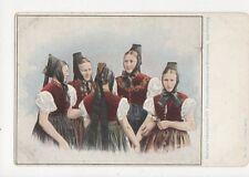 Badische Volkstrachten Schwarzwaelderinnen Aus Kirchzarten Postcard Germany 395a