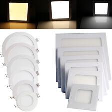 Regulable LED Empotrable para panel de techo de luz 9W 12W 15W 18W 21W cree 85 - 265V