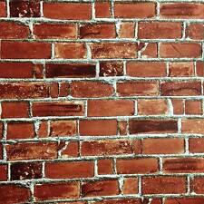 Tapete selbstklebend rote Backsteinmauer Wandtapete abwischbar Vinyltapete Stein